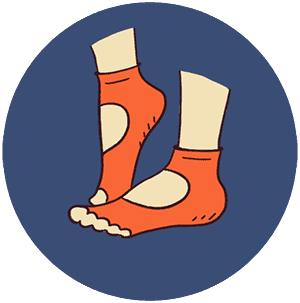 Носки, перчатки для йоги