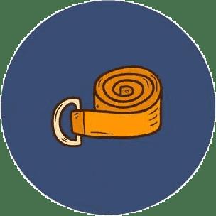 Стяжки для йога ковриков