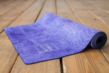 Коврик для йоги OM Yoga Club каучук