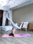 Коврик для йоги Inspiration 3x61x183 Yoga Club из каучука + микрофибра_6