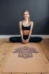 Коврик для йоги Hamsa Yoga Club Пробковое покрытие_2