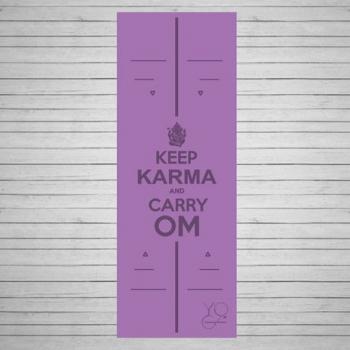 Коврик для йоги Karma фиолетовый