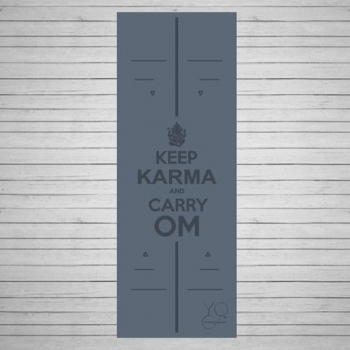 Коврик для йоги Karma серый