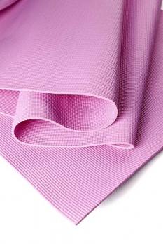 Коврик для йоги Асана Стандарт розовый ПВХ