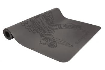 Коврик для йоги Namaste серый каучук