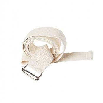 Ремень для йоги хлопковый Де люкс ширина 3 см белый