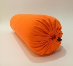 Болстер для йоги Айенгара шерстяной с хлопковым чехлом оранжевый
