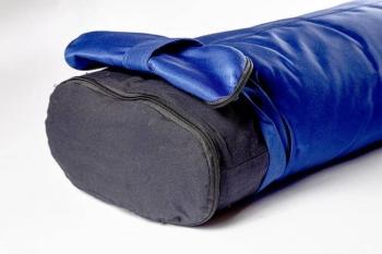 Болстер для йоги Айенгара прямоугольный шерстяной синий