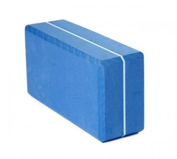 Кирпич для йоги из EVA-пены Yoga brick голубой
