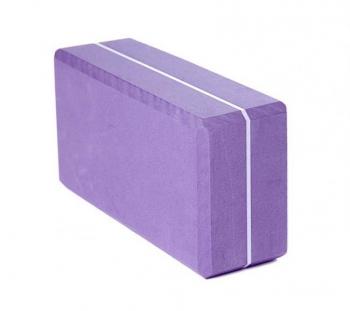 Кирпич для йоги из EVA-пены Yoga brick фиолетовый