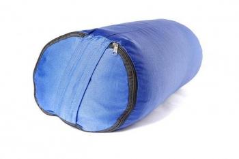 Болстер для йоги из гречихи голубой