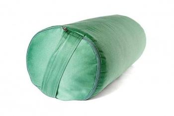 Болстер для йоги из гречихи зеленый