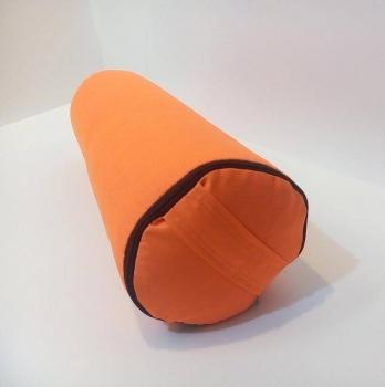 Болстер для йоги из гречихи оранжевый