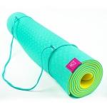 Коврик для йоги Fruits из ТПЕ DY Лайм_2