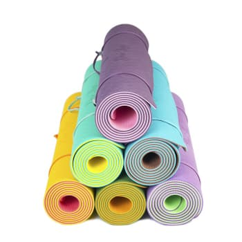 Коврик для йоги Fruits из ТПЕ с разметкой Лайм Devi Yoga