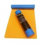 Коврик для йоги Шакти Earth Голубой + Оранжевый_2