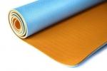 Коврик для йоги Шакти Earth Голубой + Оранжевый_1