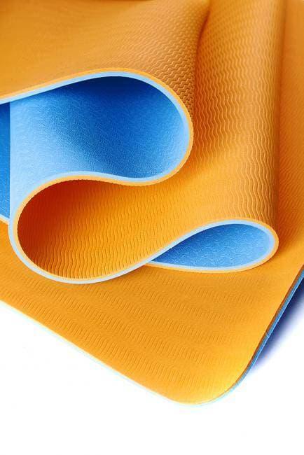 Коврик для йоги Шакти Earth Голубой + Оранжевый