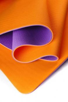 Коврик для йоги Шакти Earth Фиолетовый + Оранжевый