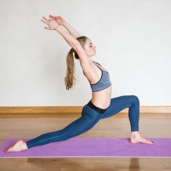 Коврик для йоги Fruits из TPE с разметкой Инжир Devi Yoga