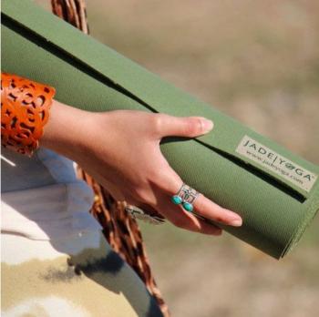 Коврик для йоги Jade Harmony Extra Wide зеленый каучук