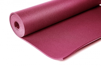 Коврик для йоги Comfort PRO бордовый ПВХ