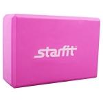 Блок для йоги STAR из EVA розовый