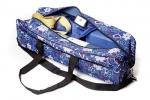 Сумка для йога-коврика Гаруда, цветы на синем фото