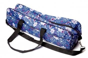 Сумка для йога-коврика Гаруда, цветы на синем