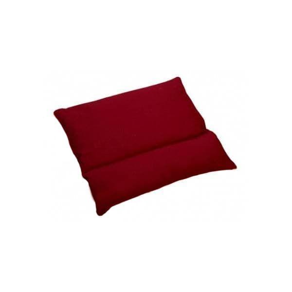 Подушка с валиком под шею бордовая фото