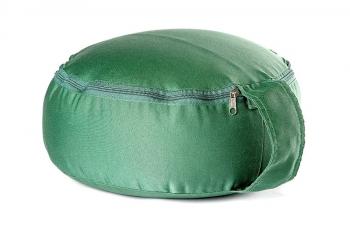 Подушка для медитации spiritual с гречишной лузгой зеленая
