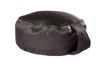 Подушка для медитации spiritual с гречишной лузгой черная