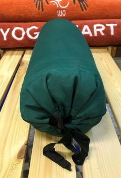 Валик из гречихи хлопковый чехол с завязками зеленый