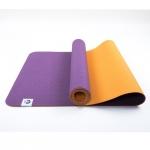 Коврик для йоги Лотос Light Фиолетовый + Оранжевый