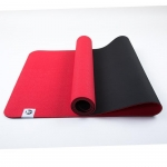 Коврик для йоги Лотос Light Красный + Черный