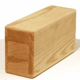 Кирпич для йоги деревянный полый