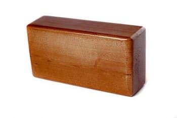 Кирпич для йоги премиум лакированный в глазури коричневый