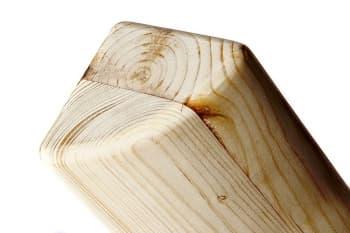 Кирпич для йоги полукруглый деревянный шлифованный