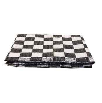 Одеяло байковое для йоги черно-белое