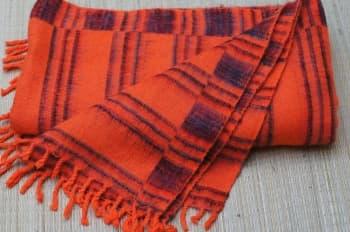 Плед для медитации и шавасаны оранжевый