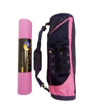 Сумка для йога-коврика Лотос розовая