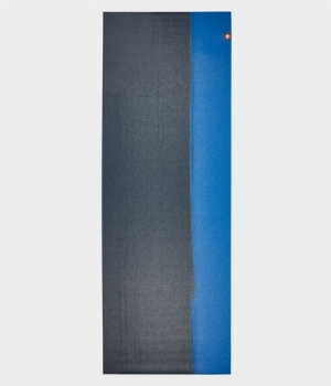 Коврик для йоги Manduka EKO SuperLite Travel Mat 1.5мм Midnight Stripe