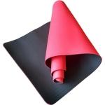 Коврик для йоги TPE 183х61х0,6 красно-черный (под заказ)