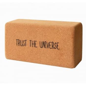 Кирпич для йоги из пробки с принтом Trust the Universe