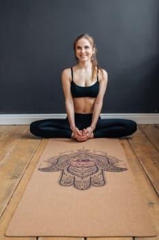 Коврик для йоги Hamsa Yoga Club Пробковое покрытие (под заказ из СПб)