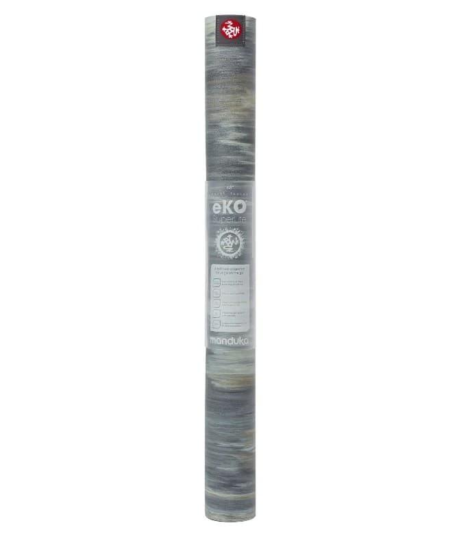 Коврик для йоги EKO SuperLite Travel Mat Thunder marbled 1.5x61x180 Manduka из каучука (под заказ из СПб)