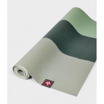 Коврик для йоги EKO SuperLite Travel Mat Green Ash stripe 1.5x61x180 Manduka из каучука (под заказ из СПб)