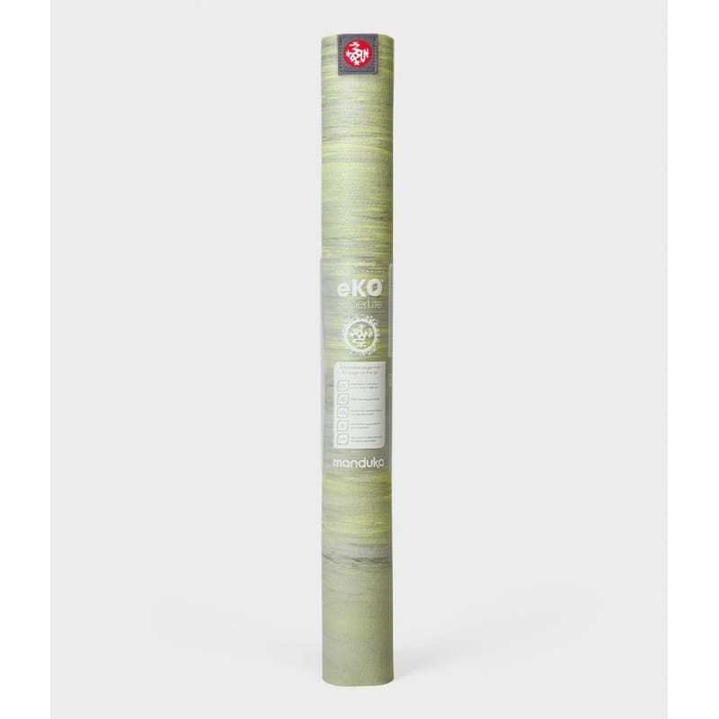 Коврик для йоги EKO SuperLite Travel Mat Limelight marbled 1.5x61x180 Manduka из каучука (под заказ из СПб)