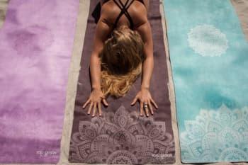 Коврик для йоги из каучука + микрофибра MANDALA Black 3,5 мм YogaDesignLab (под заказ)