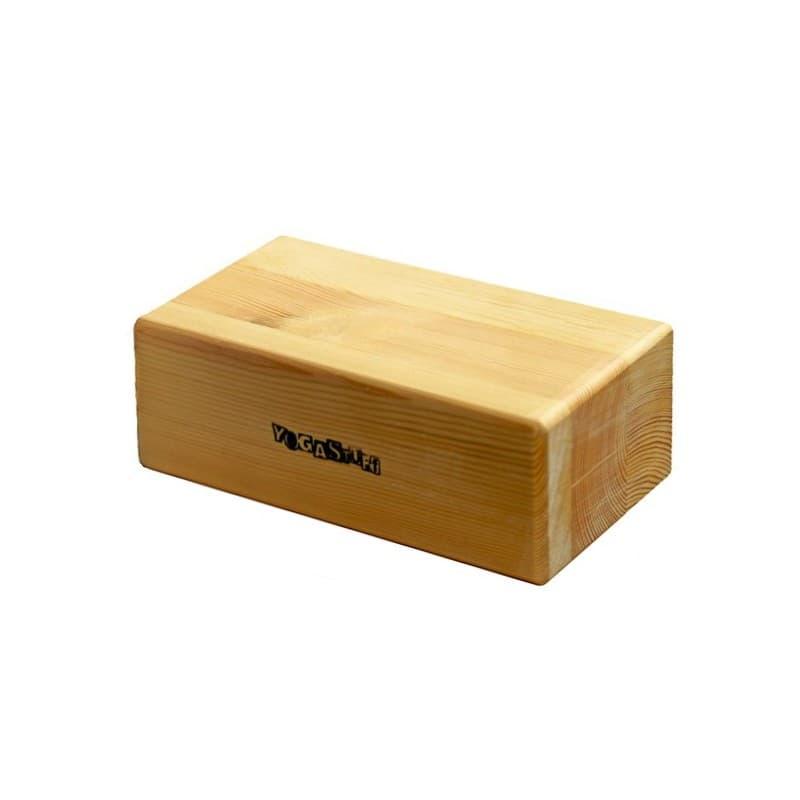 Блок (кирпич) для йоги премиум лакированный в глазури 23х12х8 см (под заказ из СПб)